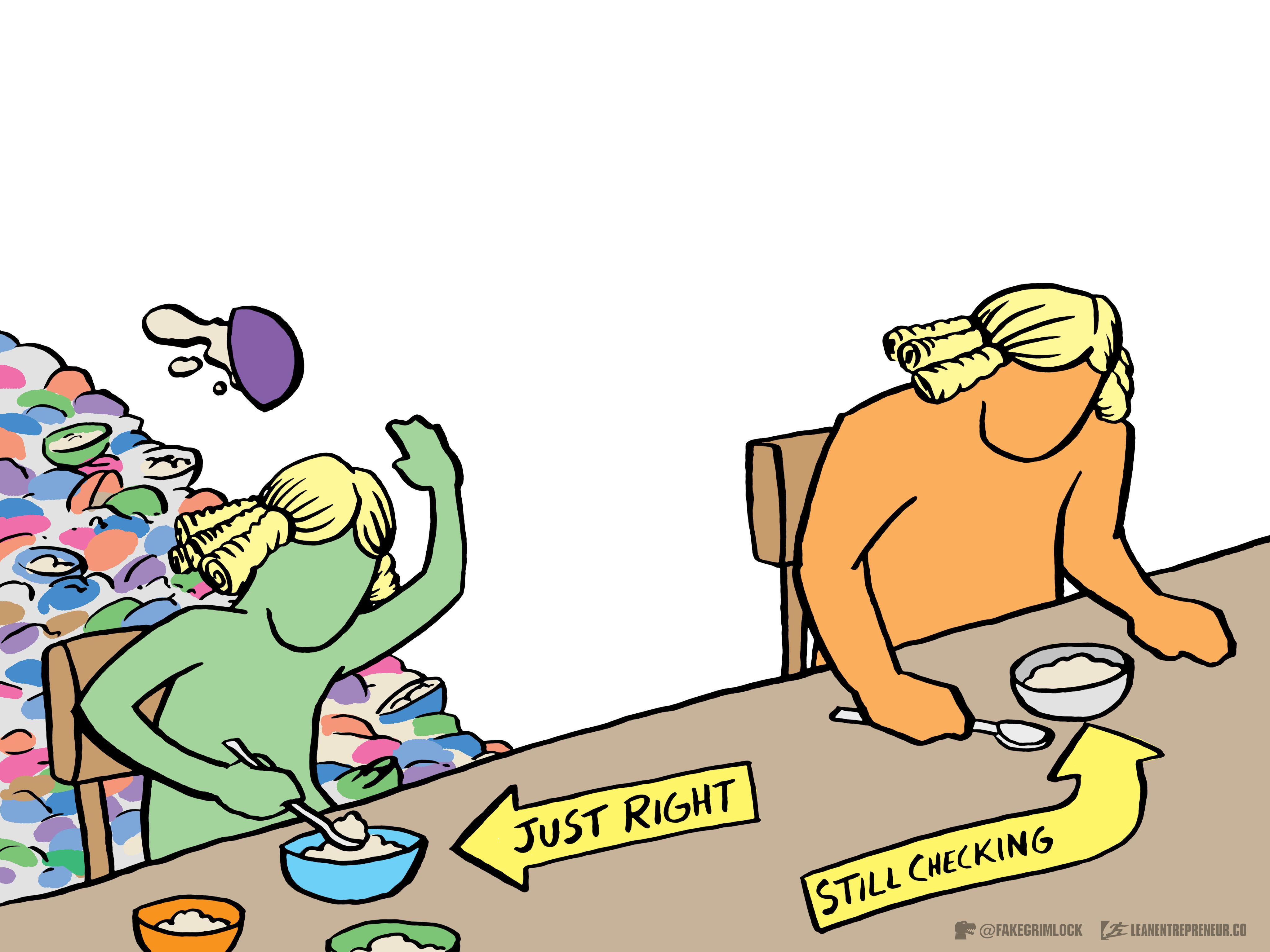 Goldilocks from The LeanEntrepreneur.co